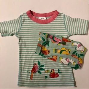Hanna Andersson 100(4) parrot shorts pajama set